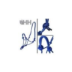 Cabezada cuadra de cuerda, azul royal