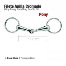 Filete anillacromado poni